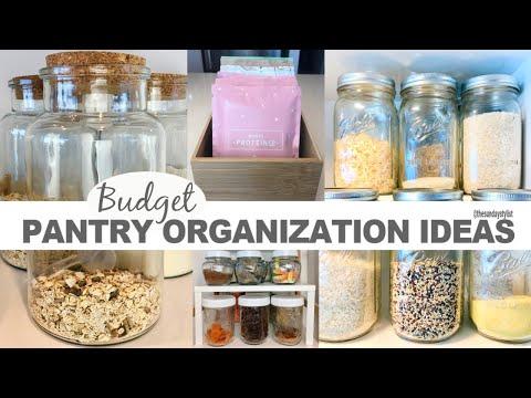 KITCHEN PANTRY ORGANIZATION IDEAS - Pantry Storage Makeover || THE SUNDAY STYLIST