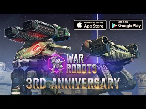 War robots 3rd anniversary event chest opening and epic gameplay