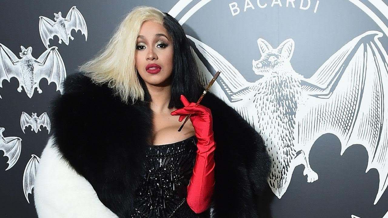 cardi b transforms into cruella de vil for halloween and shares one wish for her wedding day