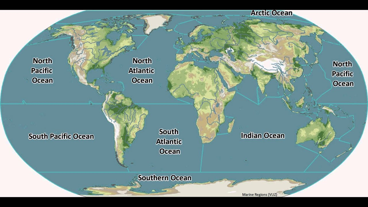 Learn 5 Oceans Of The Earth Quick Guide