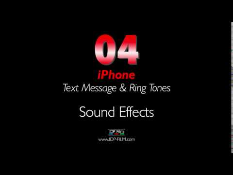 iPhone Message Sound Effects HD - MOBILE Ring Tones 04 - Text Tone