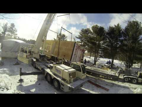 Building a Pre Fabricated Home in Winter – Muskoka – Day 1, Set 02