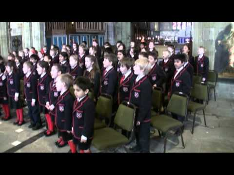 ELIZA age 9 sings HOPE OF HEAVEN in St Asaph Cathedral Dec2012