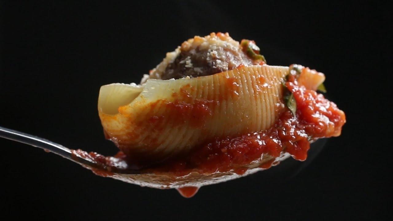 maxresdefault - Meatball Stuffed Shell Pasta