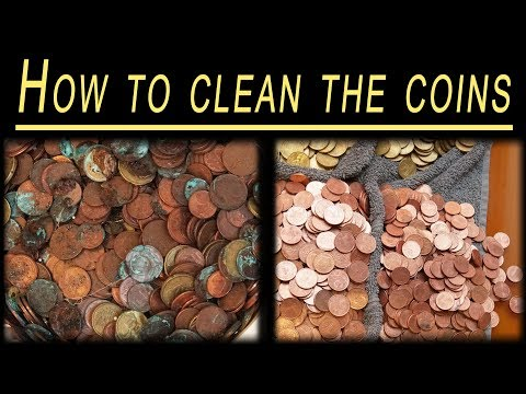 How to clean coins + timelapse of sorting and packing