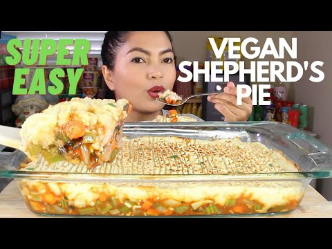 THE BEST VEGAN SHEPHERD's PIE  Cooking and MUKBANG