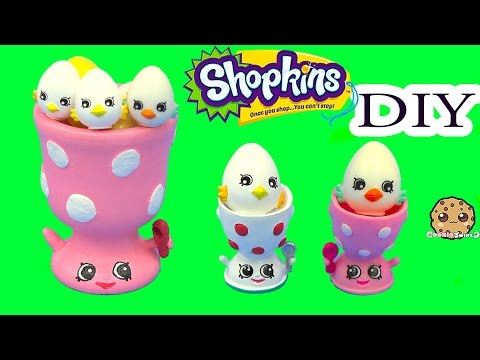 DIY Shopkins Season 4 Edgar Egg Cup Do It Yourself Eggcup Craft Video Cookieswirlc