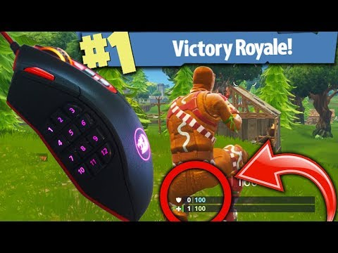 THE BEST MOUSE FOR FORTNITE BATTLE ROYALE! (1 HEALTH WIN?!)