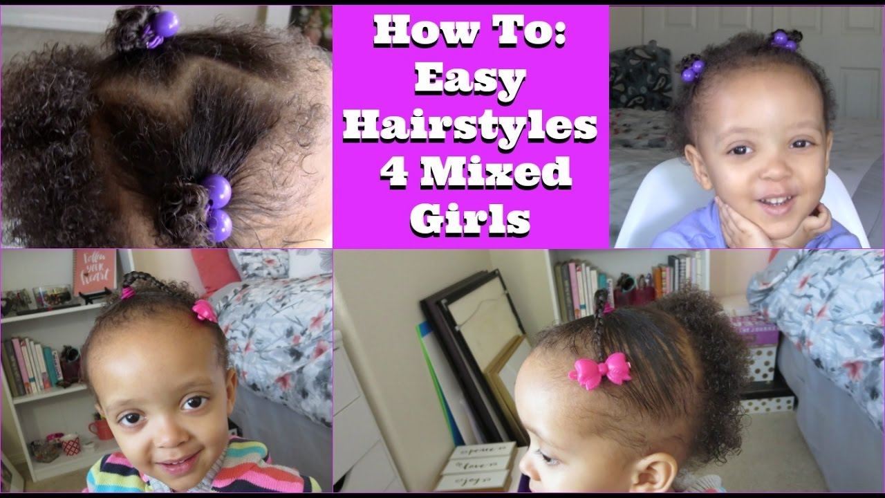 how to: 2 easy hairstyles for mixed girls ft. sheamoisture4u