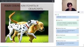 """Вебинар """"Язык собак: понять и объяснить"""" 01.11.17г Зоопсихолог Лидия Ушакова"""