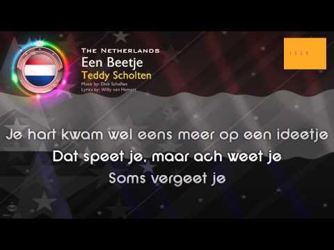 """[1959] Teddy Scholten - """"Een Beetje"""" (The Netherlands)"""