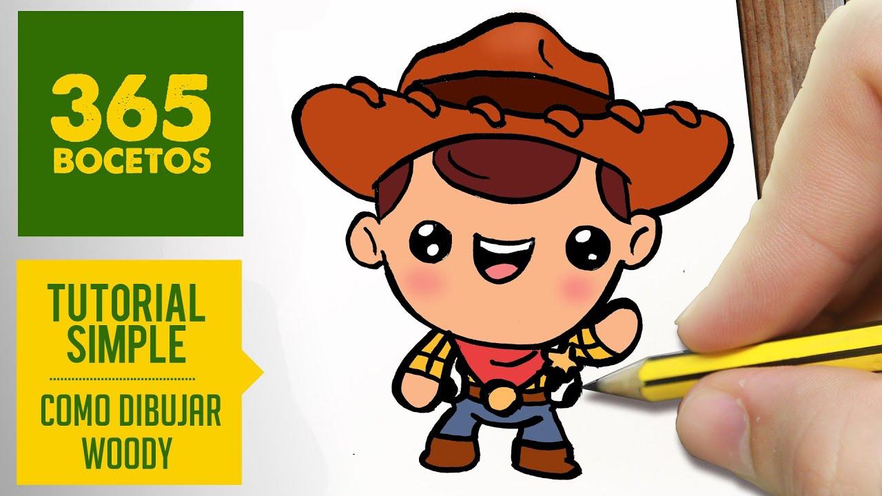 Wallpaper Perritos 3d Como Dibujar A Woody De Toy Story Kawaii Paso A Paso