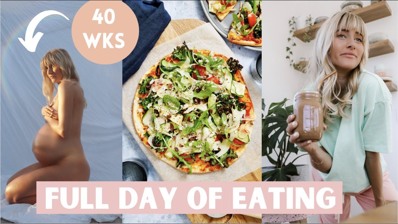 WHAT I EAT IN A DAY at 40 WEEKS PREGNANT | realistic & honest