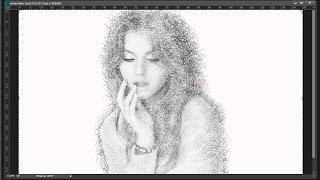 Retrato creativo a lápiz con Photoshop