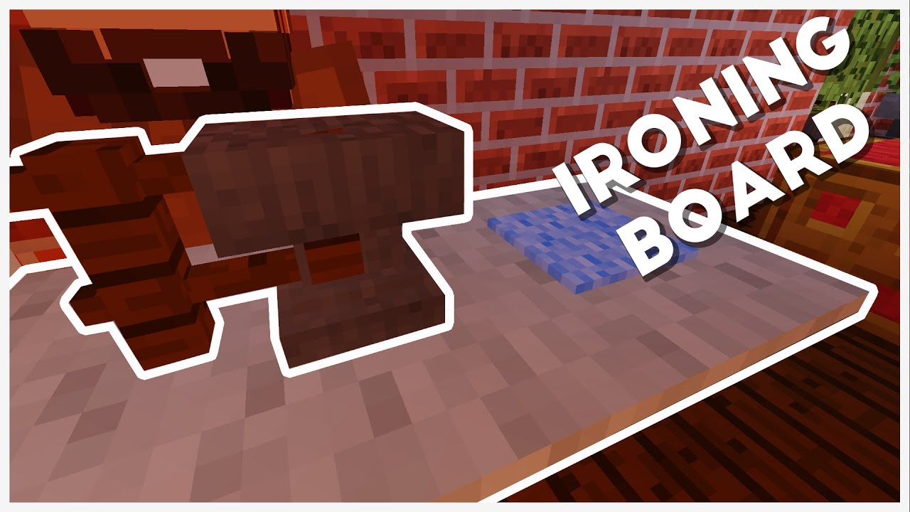 Minecraft How To Make A Ironing Board W Iron Youtube