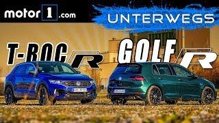 VW Golf R vs. VW T-Roc R   UNTERWEGS mit Daniel Hohmeyer