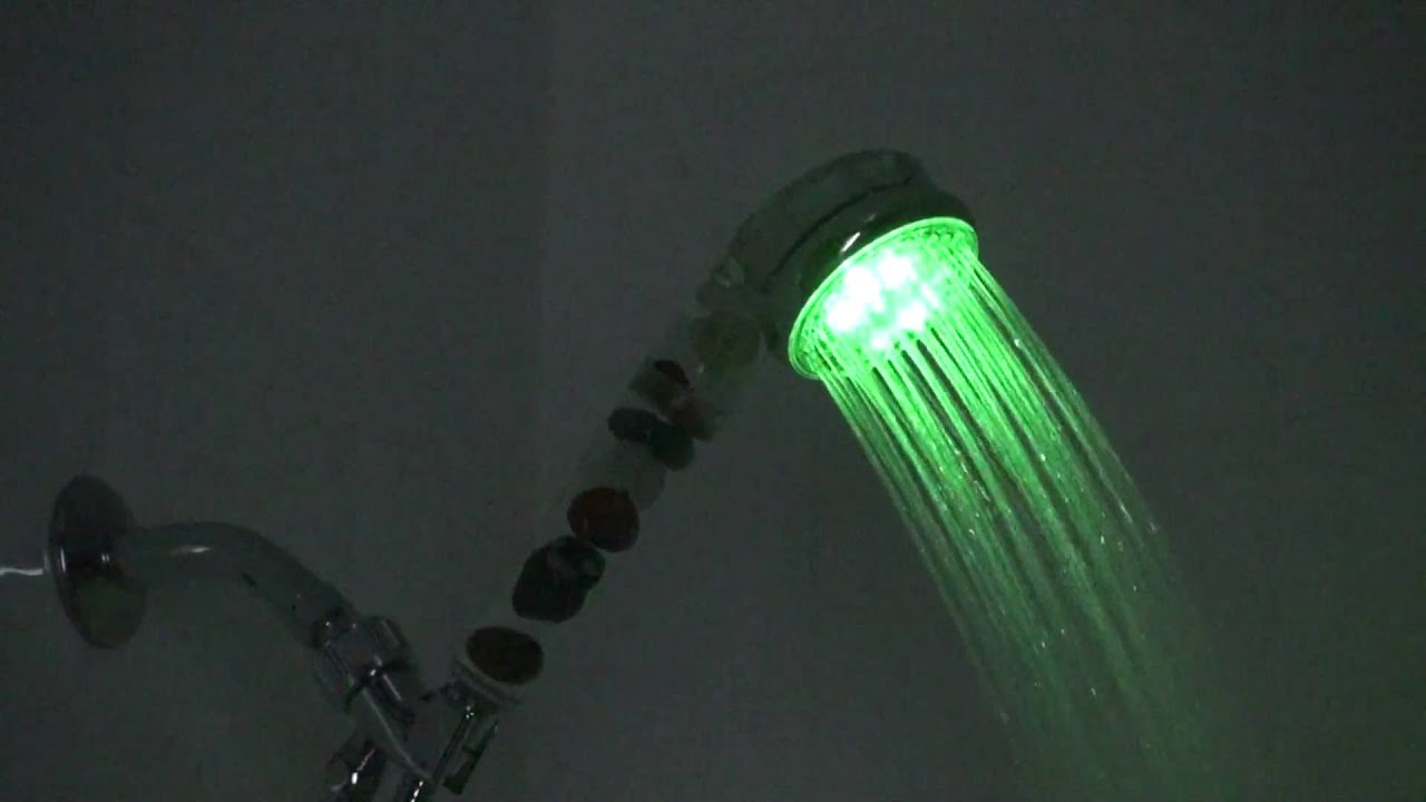 SPA Mineral Quartz Healthy LED Showers Heads - YouTube