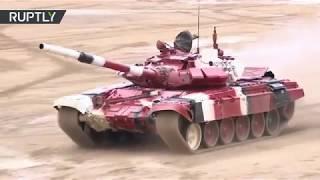 Arrancan las semifinales del biatlón de tanques en los Juegos Militares Internacionales 2018