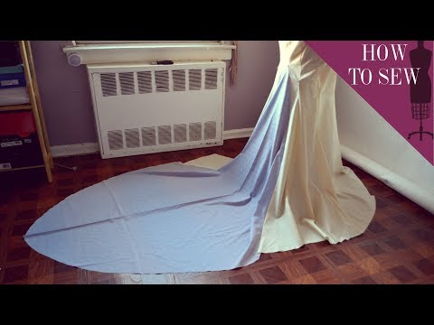 How To Sew A Fishtail Extension To The Back Of A Gown