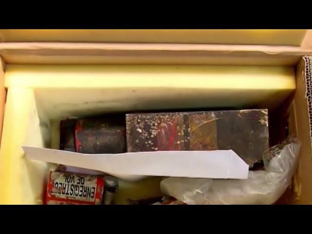 Черные ящики разбившегося лайнера в Иране показало иранское телевидение