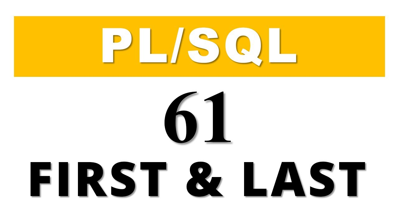 Plsql tutorial 61 collection method first last in oracle plsql tutorial 61 collection method first last in oracle database baditri Choice Image