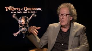 PIRATES OF THE CARIBBEAN: DEAD MEN TELL NO TALES Geoffrey Rush Interview