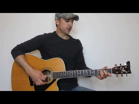 All Day Long - Garth Brooks - Guitar Lesson | Tutorial