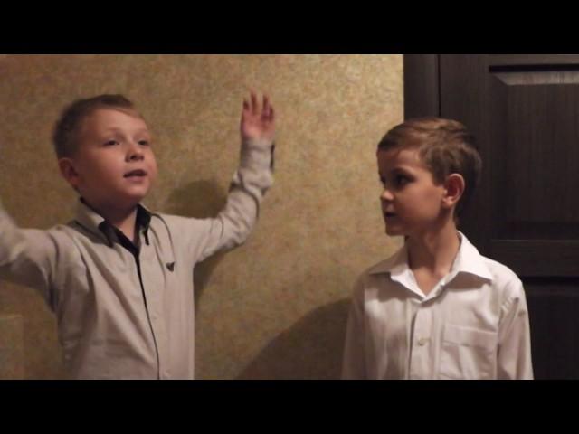 Изображение предпросмотра прочтения – «Учащиеся МАОУ СОШ №75» читает произведение «Два Мальчика» И.А.Крылова