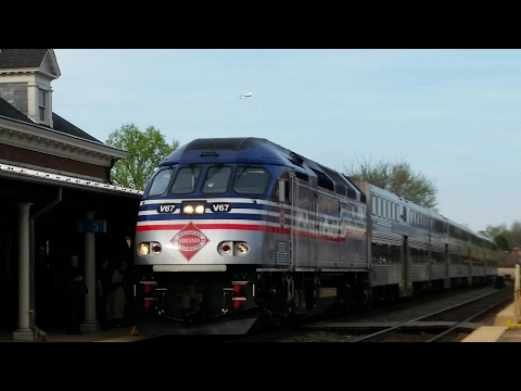 Railfannning Alexandria VA 4/10/17 With 8000 series,VRE,AMTK,and Cookode
