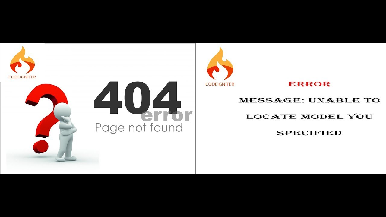 How to remove Page not found 404 Error in Codeigniter Unable to locate  model you specified