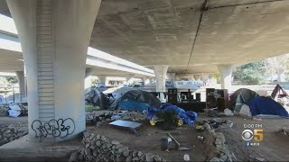 Silicon Valley Visitors See Growing Homeless Camp Along Guadalupe River Upon Arrival