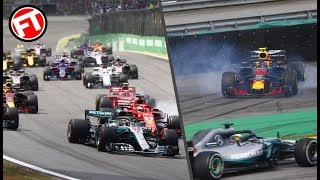 RESUMEN CARRERA GP BRASIL F1 2018 - ¡¡CARRERON ESPECTACULAR!! CON UN VERSTAPPEN INDOMABLE