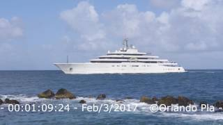 ECLIPSE SUPER MEGA YACHT IN PUERTO RICO