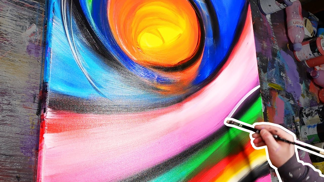 How To Paint Abstract Art With Acrylic Paint