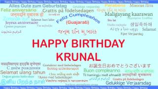 Krunal   Languages Idiomas - Happy Birthday