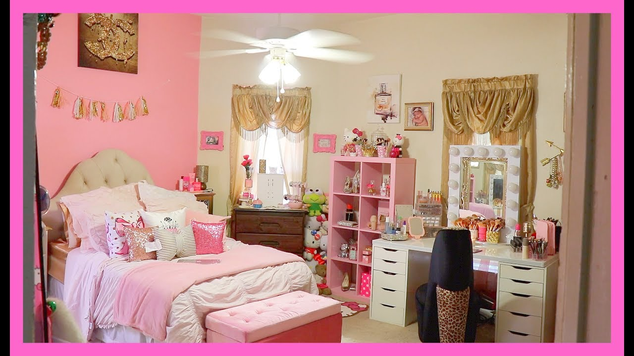 GLAM  ROOM TOUR PINK  PRINCESS YouTube