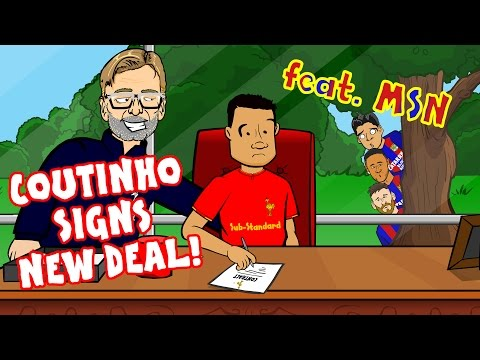 ✍️COUTINHO SIGNS A NEW CONTRACT✍️ Barcelona and MSN tried their best.... PARODY