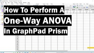 How To Perform A One-Way ANOVA In GraphPad Prism