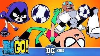 Teen Titans Go! En Español | Muerte súbita en el fútbol | DC Kids