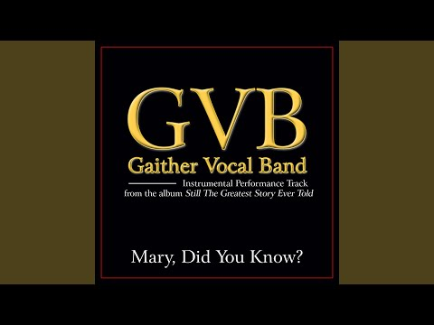Mary, Did You Know? (Original Key Performance Track Without Background Vocals)
