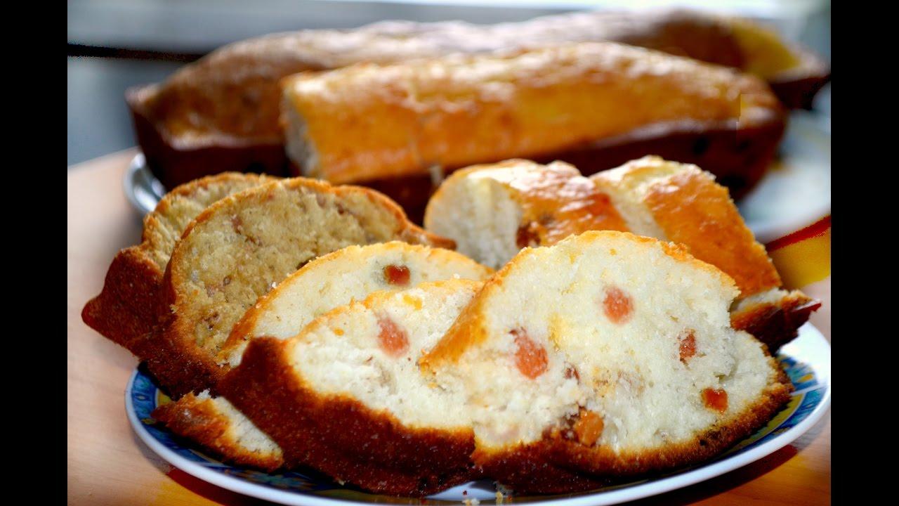 Рецепт вкусного кекса на простокваше