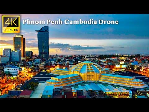 Phnom Penh, Cambodia - 4K UHD Drone Video