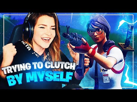 TRYING TO CLUTCH OUT A SQUAD GAME BY MYSELF! (Fortnite: Battle Royale)   KittyPlays