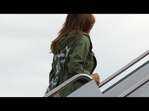Melania Trump dons jacket that reads