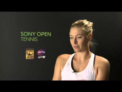 Maria Sharapova 2013 Sony Open Tennis SF Interview