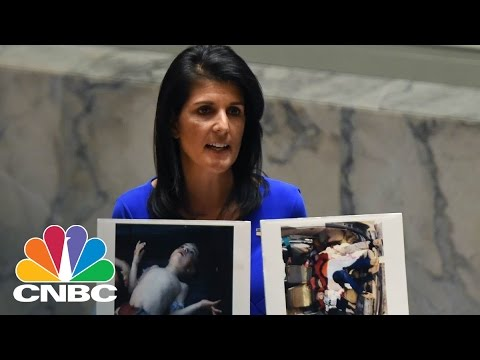 UN Ambassador Nikki Haley Denounces Chemical Weapons Attack In Syria | CNBC