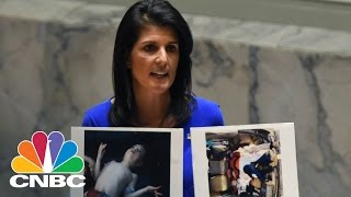 UN Ambassador Nikki Haley Denounces Chemical Weapons Attack In Syria   CNBC