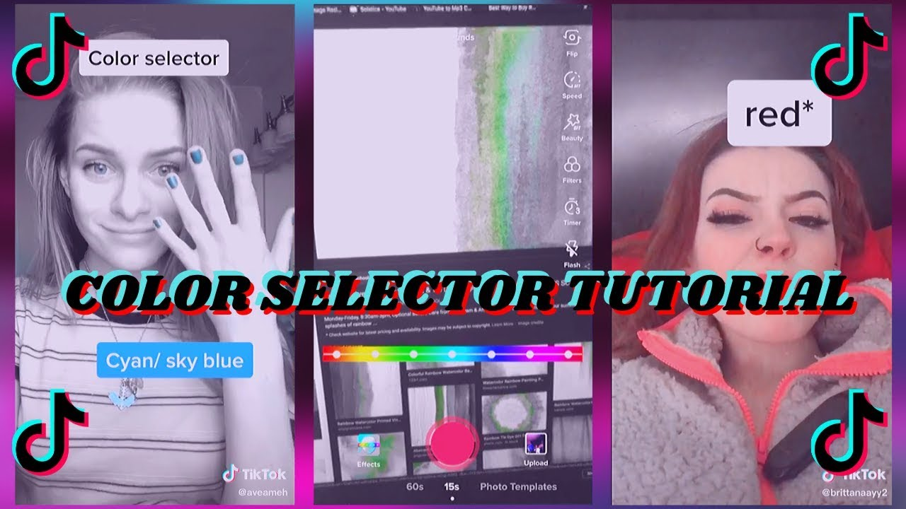 Color Selector Tik Tok Tutorial Color Selector Color Filter Tik Tok Walkthrough Youtube