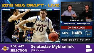 Los Angeles Lakers Select Sviatoslav Mykhailiuk With Pick #47 In 2nd Round Of 2018 NBA Draft