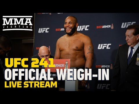 UFC 241 Official Weigh-in Live Stream - MMA Fighting